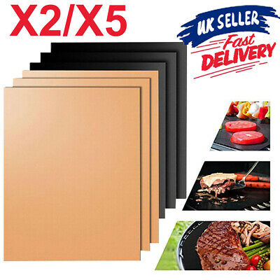BBQ Grill Mat Sheet Resistant Non-Stick Meat Party Bake Barbecue Reusable Teflon