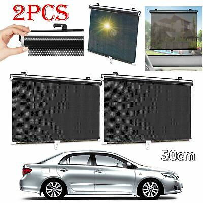 2 X 50Cm Car Window Sun Shade Auto Roller Blind Screen Protector Protection Kids