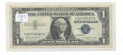 1957-B $1 Fr-1621 Blue Seal 5487 George Washington Silver Certificate Bank Note