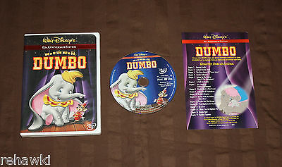 Dumbo (DVD, 2001, 60th Anniversary Edition) *RARE* AUTHENIC DISNEY DVD