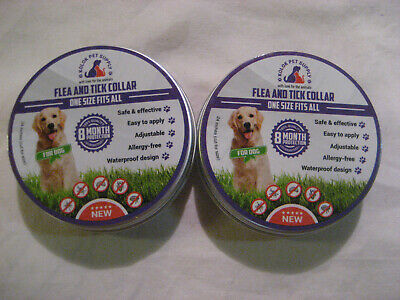 LOT OF 2 KOLOK Flea and Tick Collar For Dog 8 Month Protection One Size Fits All