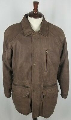 0448588a56d Wilsons Adventure Bound Men s Leather Thinsulate Bomber Jacket Coat Small  Brown