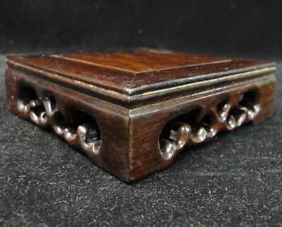 On Sales! Fine Carving Chinese Solid Rosewood Stand Base for Vases Cups Teapots
