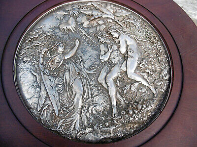 Elkington Victorian Silver Plate Charger or plate design by Morel-Ladeuil