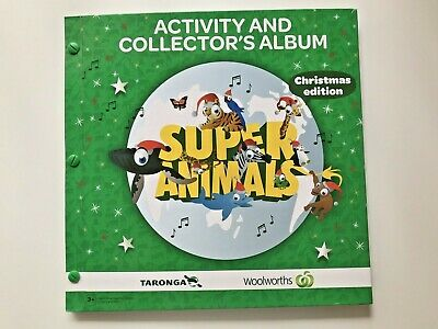 Woolworths Green Super Animals Complete 72 Card Set in Christmas Edition Album
