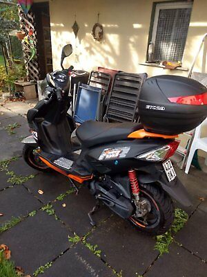 Motorroller Explorer Speed 50 schwarz/orange 45km/h