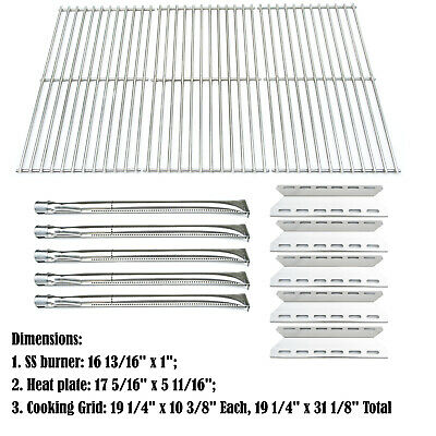 Replacement Nexgrill 720-0025 Gas Grill Burner, Heat Plate, Cooking Grid