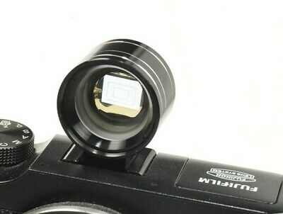 Shoe-mounted TELE-WIDE VIEWFINDER with  brightline  for 35mm & 75mm lenses