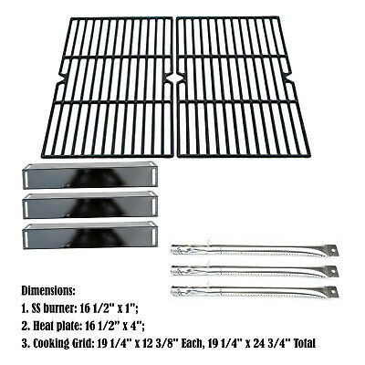 Replacement BBQ Grillware GGPL-2100 Gas Grill Burners, Heat Plates, Cooking grid