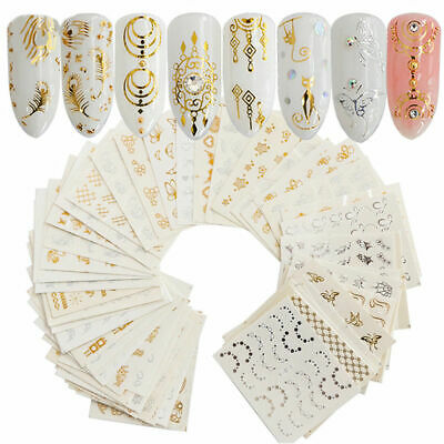 4-55x Ongle Déco Tips Autocollant Nail art Sticker Tool  Water Decals