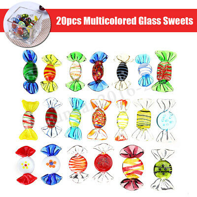 20Pcs/Set Festival Vintage Glass Sweets Wedding Party Candy Decorations Gift Toy