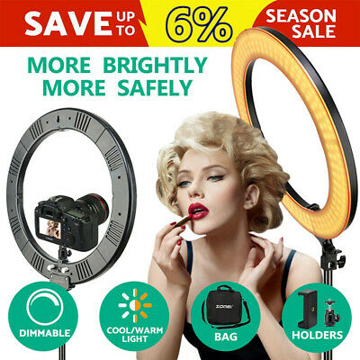 "18"" LED Studio Ring Light Photo Video Dimmable Light Tripod Selfie Camera Phone"