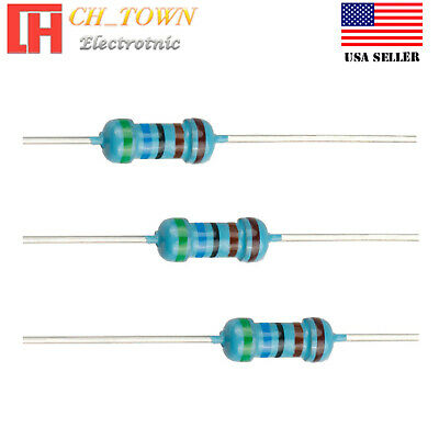 0  Ohm 1//4 Watt Carbon Film Resistor 100 Pieces Prime Parts US Seller