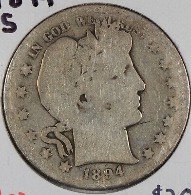 1894-S Barber Half Dollar About Uncirculated #143641
