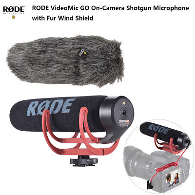 RODE VideoMic GO Super Cardioid Directional Microphone with Fur Mount Foam M7R0