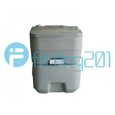 Indoor Potty Commode/Portable Toilet Flush Travel Camping Outdoor 20L