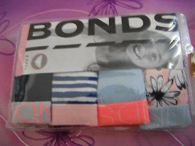 BONDS Girls Bikini Brief Size 14//16 X 1 X 4 Pack =4