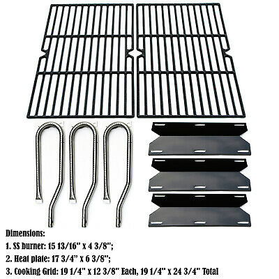 Replacement Jenn Air Gas Grill 720-0336 Burners, Heat Plates, Cooking grids