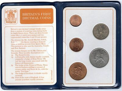 Very Rare 1971 1968 GB Britain's First Decimal Coins Set Easter Birthday Gift K