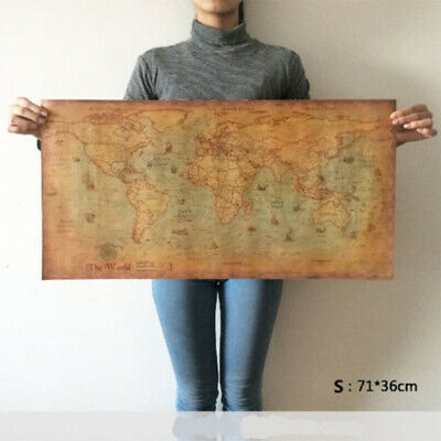 2019 Latest The old World Map large Vintage Style Retro Paper Poster Home decor