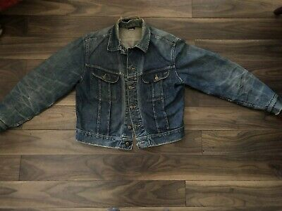 Vintage Lee 101j Riders Denim Jacket Circa 1960's