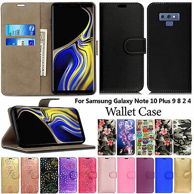 Case For Samsung Galaxy Note 10 Plus 9 8 4 3 Magnetic Cover Flip Leather Wallet