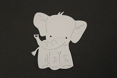 4 x Coloured Baby Elephant Die Cuts Card Making Toppers Scrapbooking