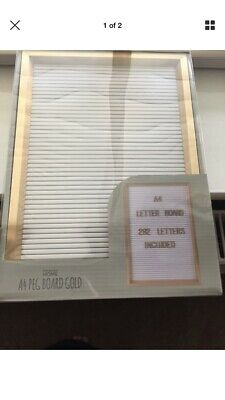 A4 Letter Board Gold New