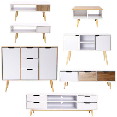 Kitchen Buffet Storage Sideboard Side Cabinet Coffee Table Wooden Stand Holder