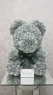 Rose Bear Teddy Bear Large Huge Luxury  40cm Foam Rose Valentine's Day Gift UK