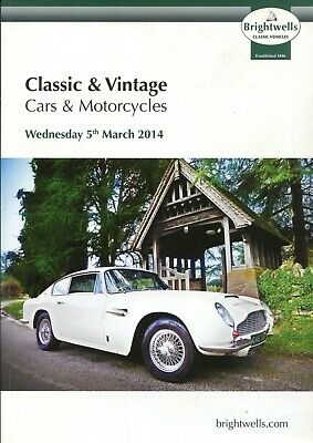 Brightwells Classic Car & Motorcycle Auction Catalogue Leominster 5/3/14