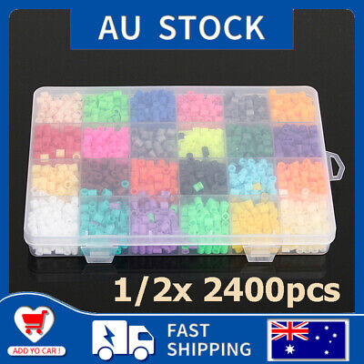 1/2x 2400Pcs DIY Crafts Educational Perler Beads 5mm Boys Girls Children AU