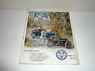 RARE R.A.C.V. MAGAZINE THE OFFICIAL JOURNAL OF VICTORIA DATED MARCH 15th 1927