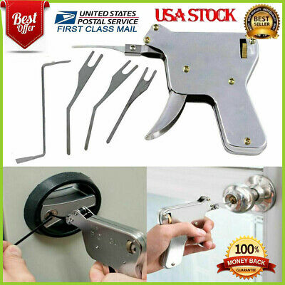 THE LOCKSMITH TOOL SET - ORIGINAL 2019- With 5pcs Tip - Door Lock Opener Gun Kit