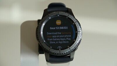 Samsung Gear S3 Frontier 46mm Stainless Steel Space Gray Sm-R760 Smartwatch