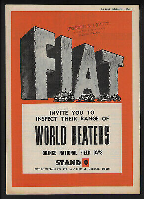 Fiat Tractors Orange National Field Days 8 Page The Land Supplement Nov. 1965