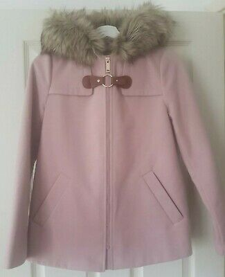Womans Girls Winter Coat Pink Hooded Size UK 4