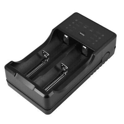 2 Slots Smart Charger For 18650 Rechargeable Li-Ion Battery USB Universal G0R4
