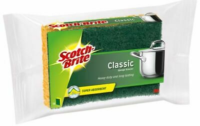 Scotch Brite Classic Heavy Duty Sponge Scourers Kitchen Washing Dish Household