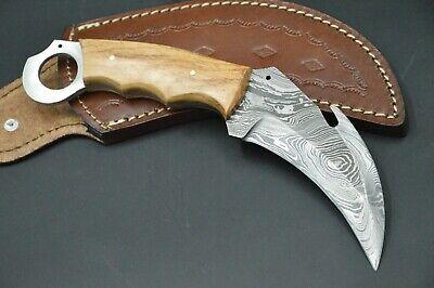 Karambit XL Tactical Knife CS MEGA Messer Damascus Jagdmesser Damastmesser #52