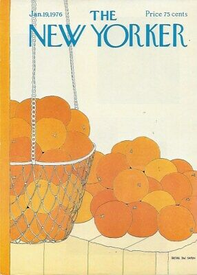 COVER ONLY ~The New Yorker magazine~ January 19 1976 ~ SIMPSON ~ Oranges market