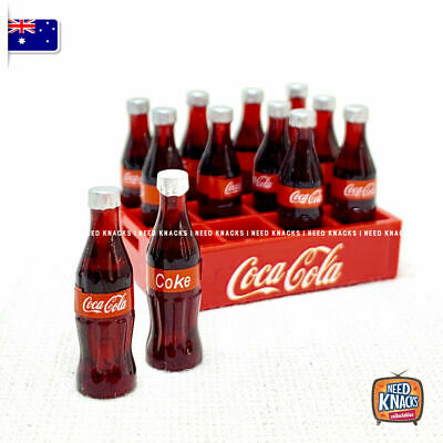 Mini Coke Bottles with Crate - add to your Coles Little Shop Mini Collectables