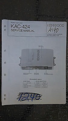kenwood kac 821 audio car service manual