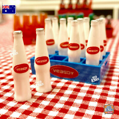 Mini Drink Bottles with Crate - add to your Coles Little Shop Mini Collectables