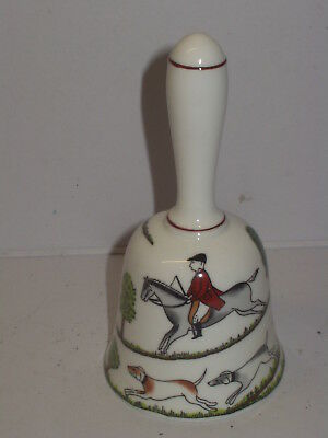 Crown Staffordshire Hunting Scene Fine Bone China Table Bell Beautiful Condition