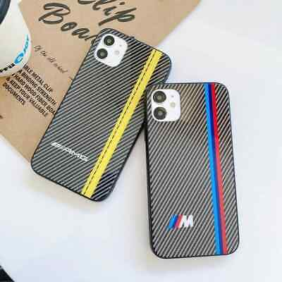 BMW AMG Case iPhone 6 6s 7+ 8+ X XS MAX XR Motorsport Tempered Glass Cover