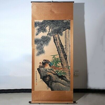 Long Chinese Scroll Hand-painted Landscape Painting Marks WangXueTao Collection