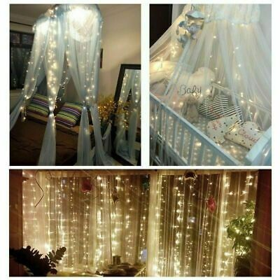 Curtain Fairy String Light Wedding Party Decor Lamp Outdoor Home Lighting Lamp