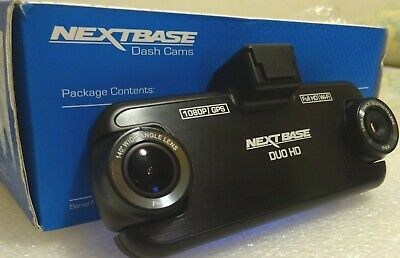 DASH CAM NEXTBASE DUO HD 1080p TWINCAM GPS WI-FI AUTO CAR LICENSE CAMERA DVR SD