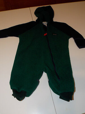 598176dea LL BEAN INFANT BOYS 6-12 months Blue Fleece Bunting Hooded Snowsuit ...
